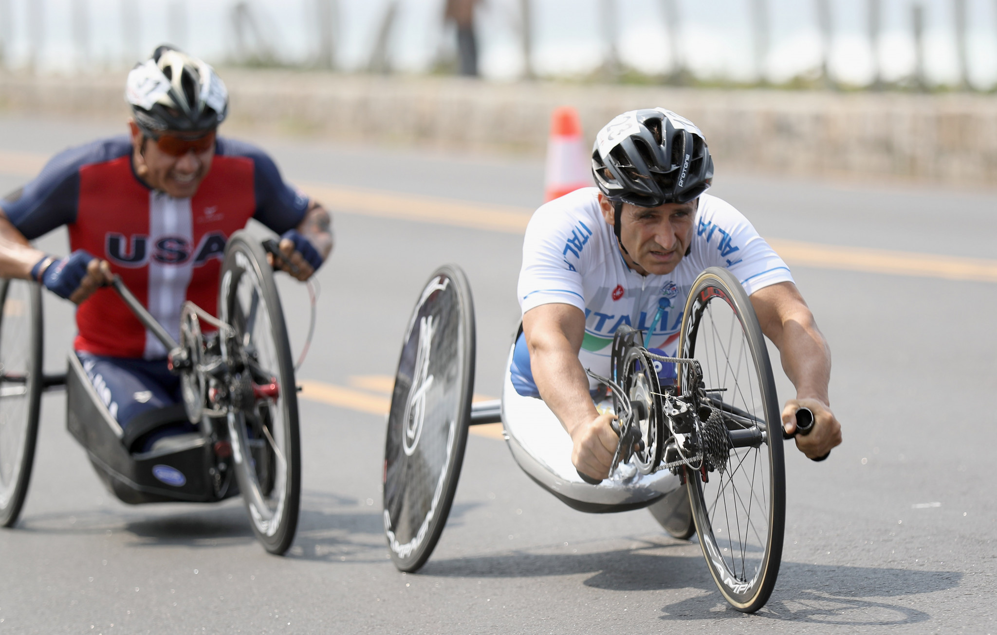 Alessandro Zanardi of Italy competes in the Men's Road Race H5 on day 8 of the Rio 2016 Paralympic Games ©Getty Images