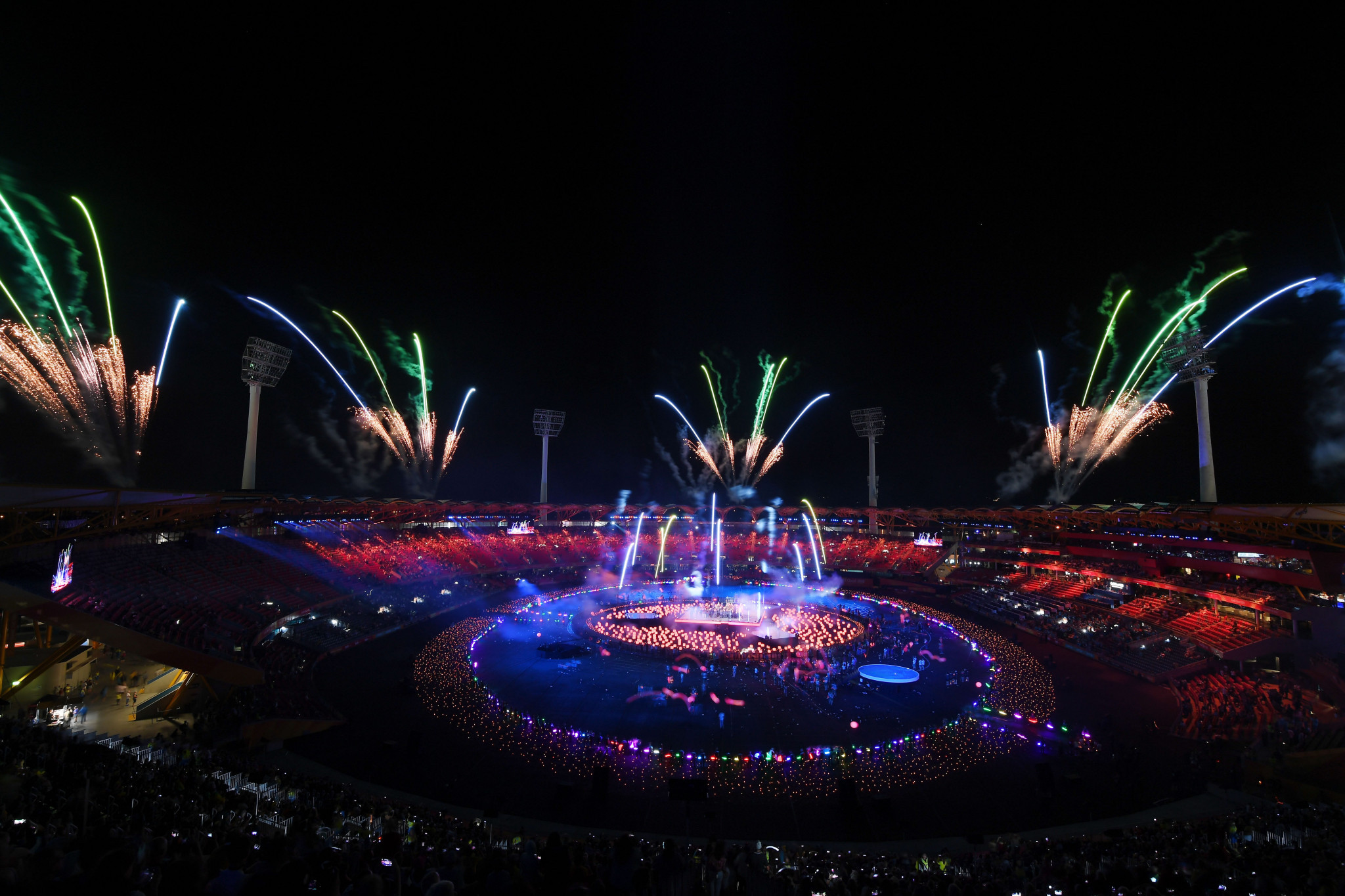 Fireworks seen during the Opening ceremony, providing a visual spectacular for all spectators ©Getty Images
