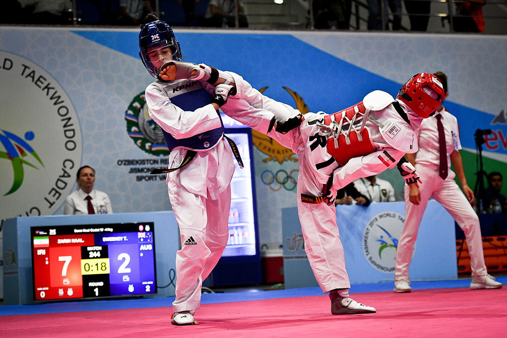 Competition continued in Taskhent today ©World Taekwondo