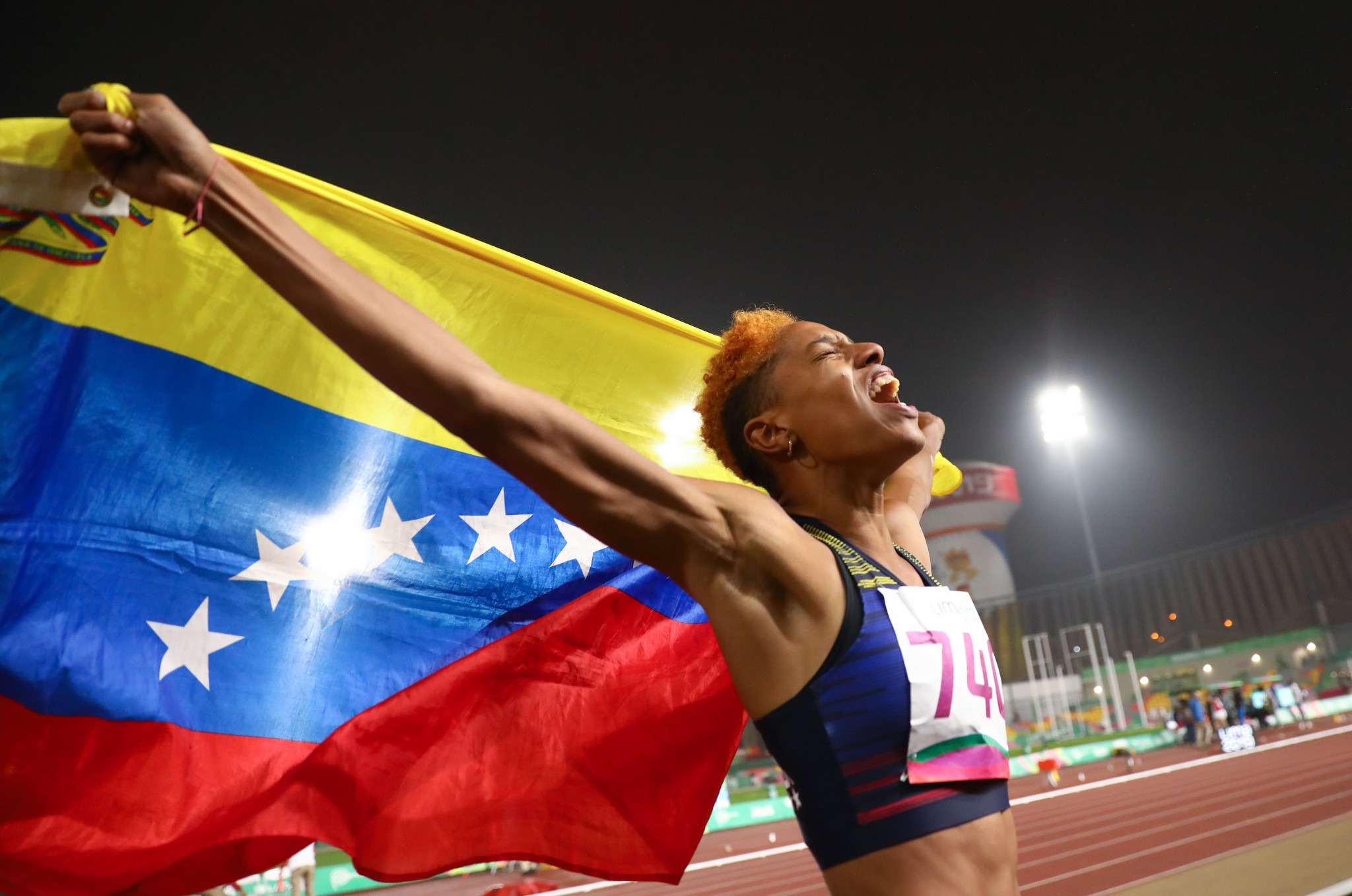 Venezuela's Yulimar Rojas won the women's triple jump with a Games record ©Getty Images