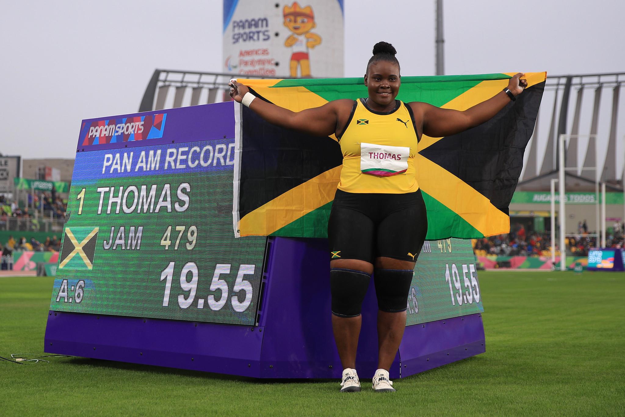 Danniel Thomas-Dodd won the women's shot put ©Getty Images