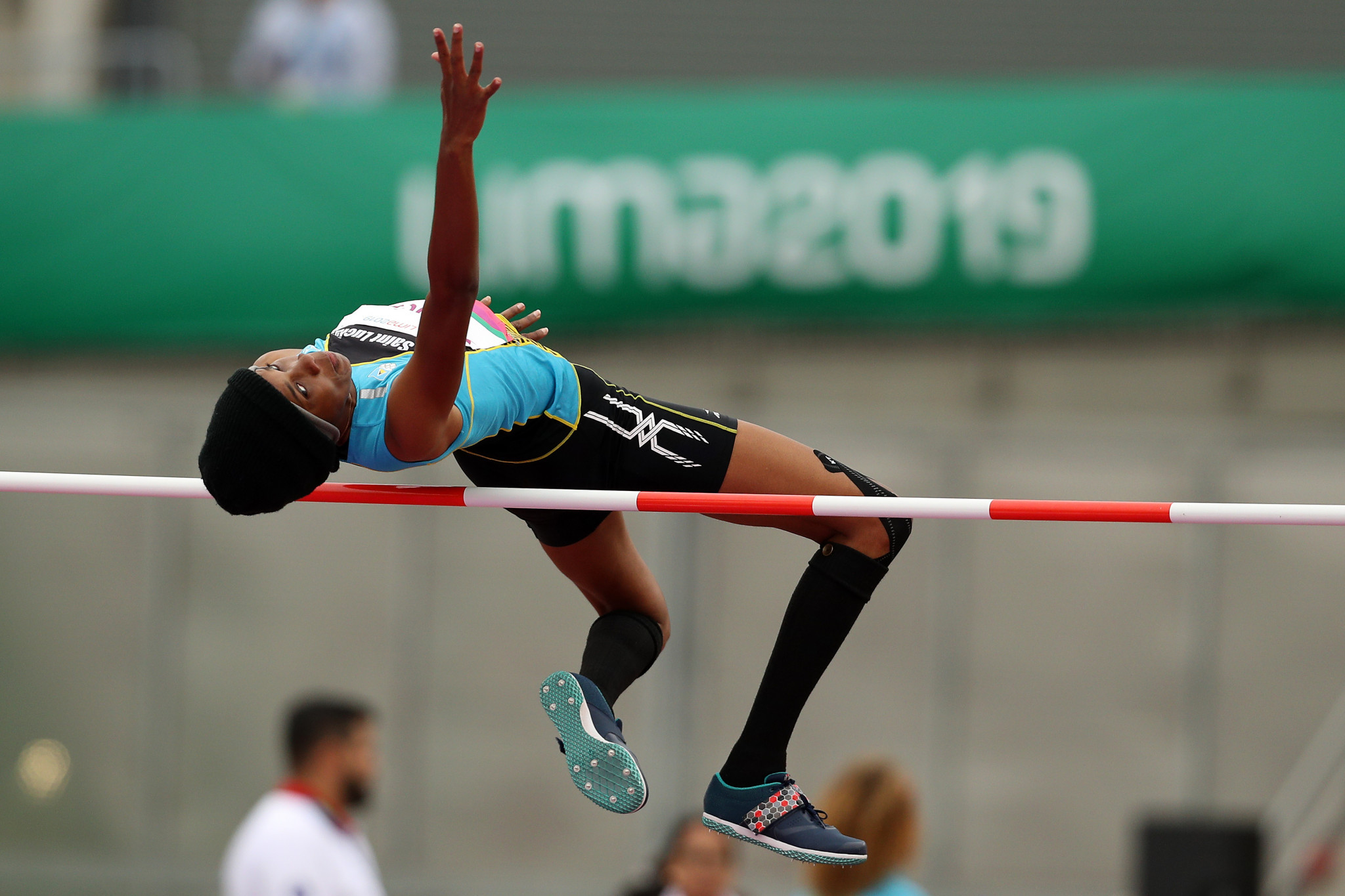 Levern Spencer defended her women's high jump title ©Getty Images