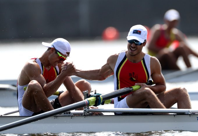 Romanian duo impresses en route to men's pair final in World Rowing Junior Championships at Tokyo 2020 test event