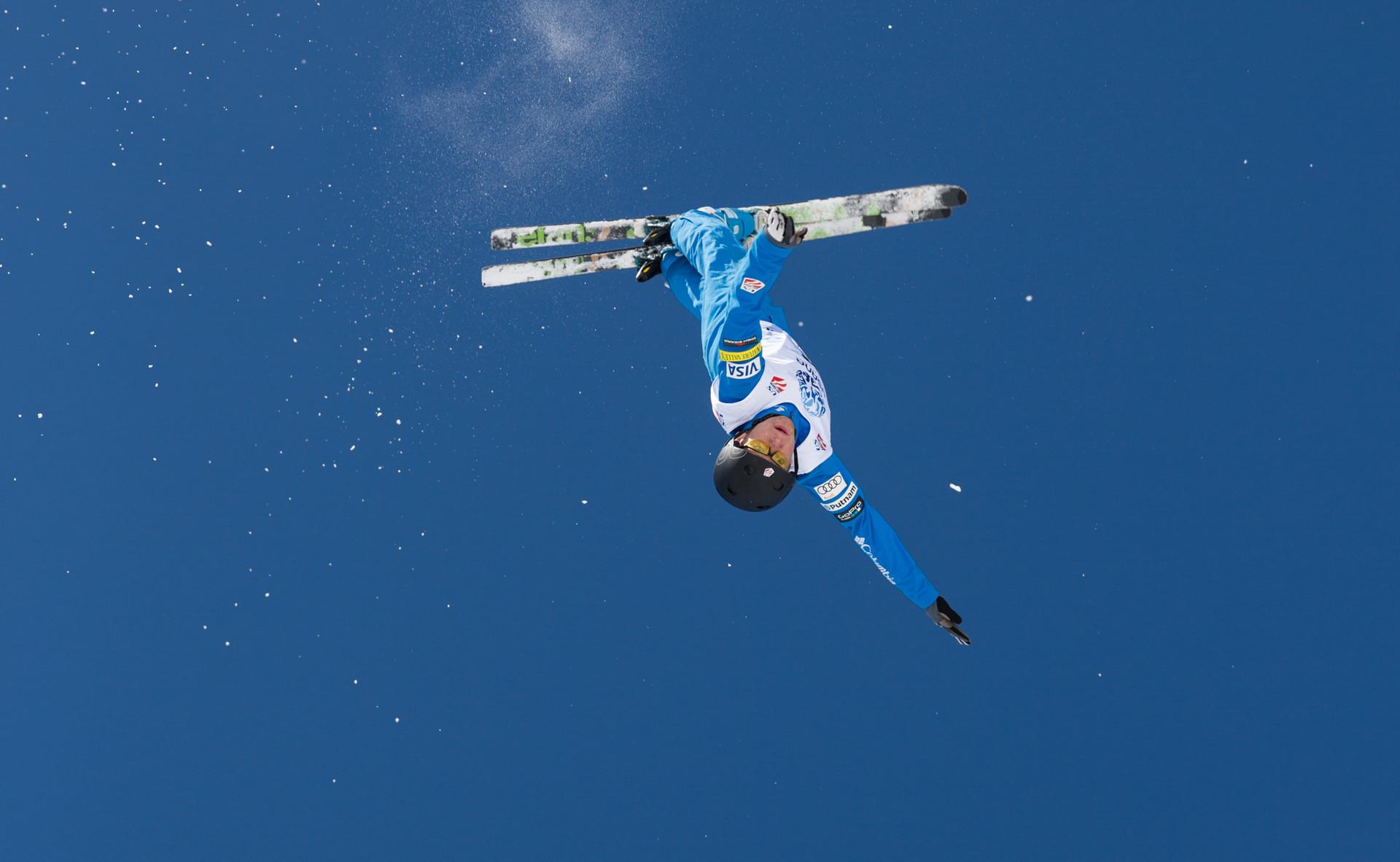 Bristol Mountain skiier Chris Lillis won at the 2019 US Aerial Freestyle Championships ©USSA