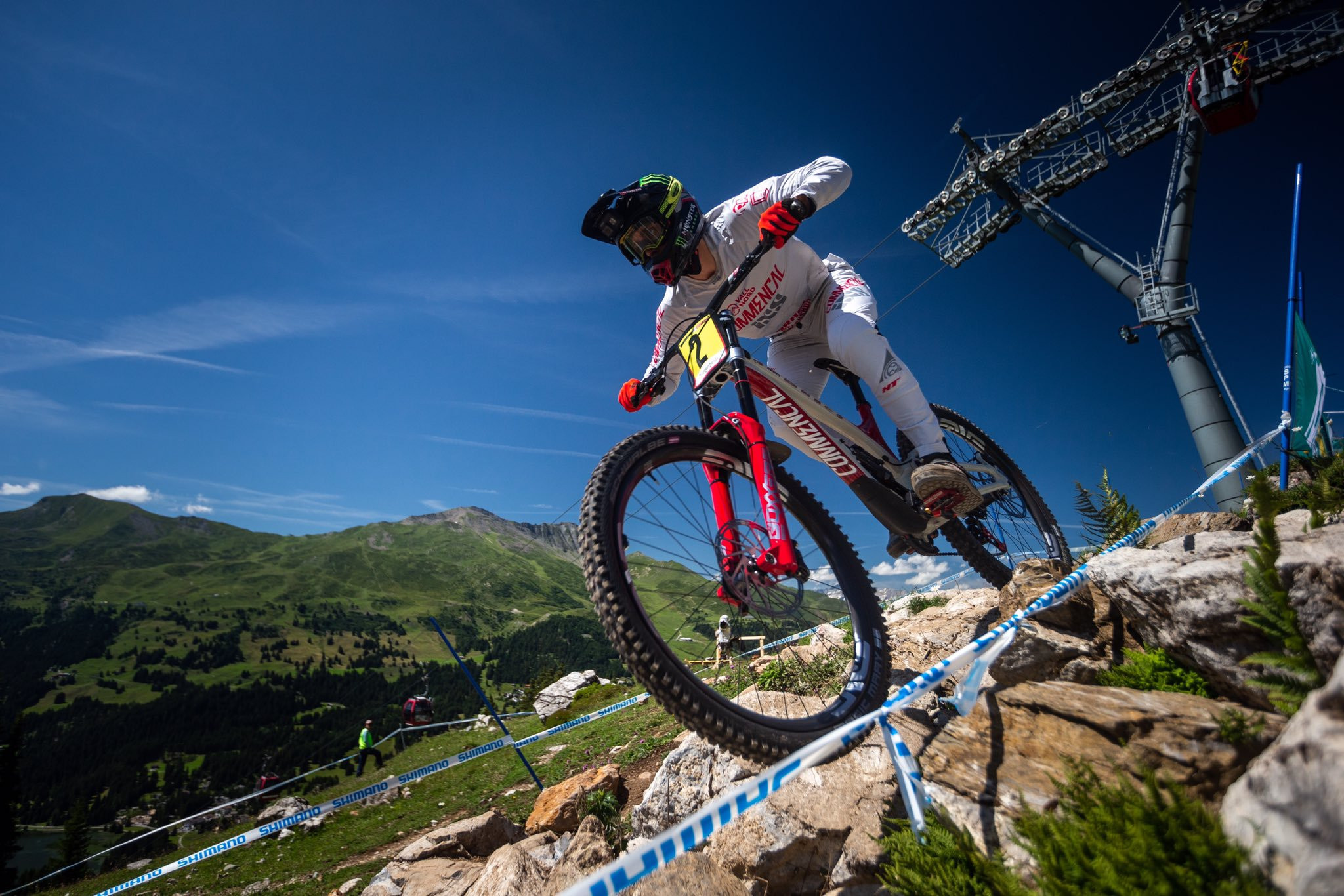 Amaury Pierron of France moved up to third in the overall standings of the UCI Mountain Bike World Cup with his win in Lenzerheide ©UCI