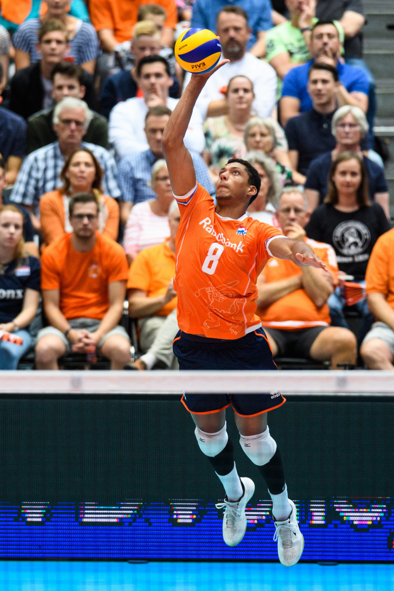 At Rotterdam Ahoy, hosts The Netherlands defeated Belgium to secure a second successive Pool B victory ©FIVB
