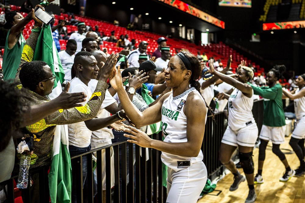 Reigning Women's AfroBasket champions Nigeria got their title defence off to the perfect start with a crushing victory over Tunisia ©FIBA