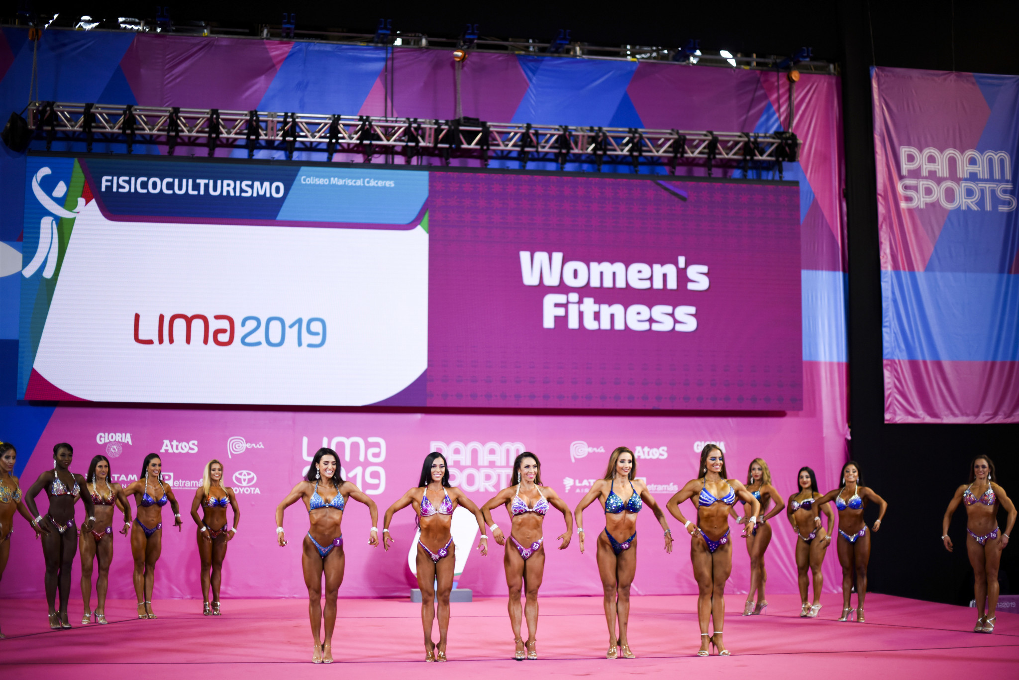 Bodybuilding made it's Pan American Games debut, with competition in the classic bodybuilding and women's fitness events ©Lima 2019