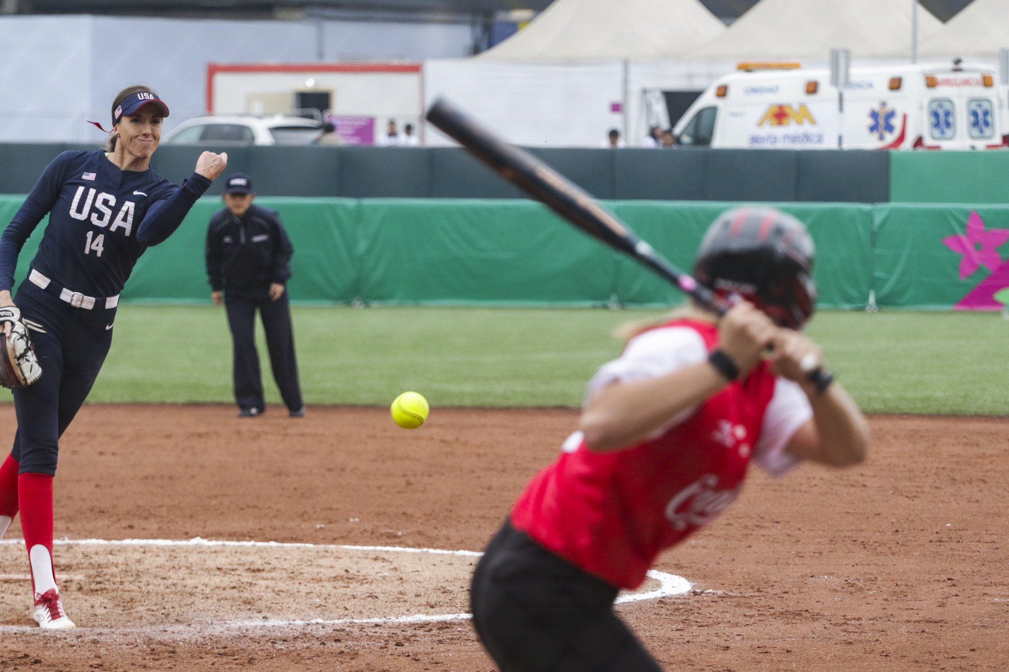 The US also came up against Canada in the grand final of the women's softball ©Lima 2019