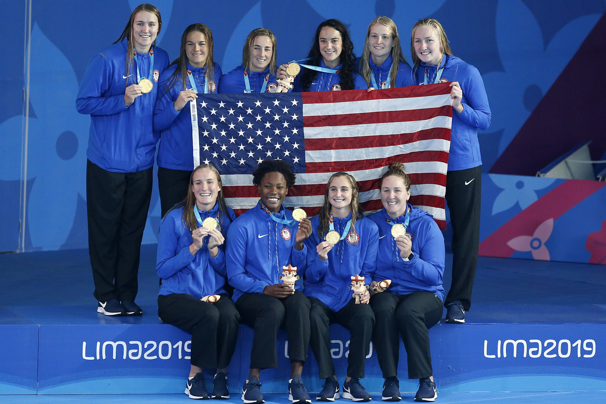 America defeated Canada to top the podium in the women's water polo ©Lima 2019