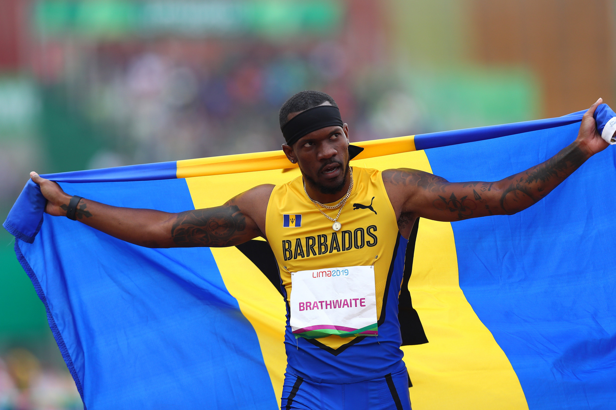 Shane Brathwaite won Barbados' first gold medal of the Games ©Getty Images