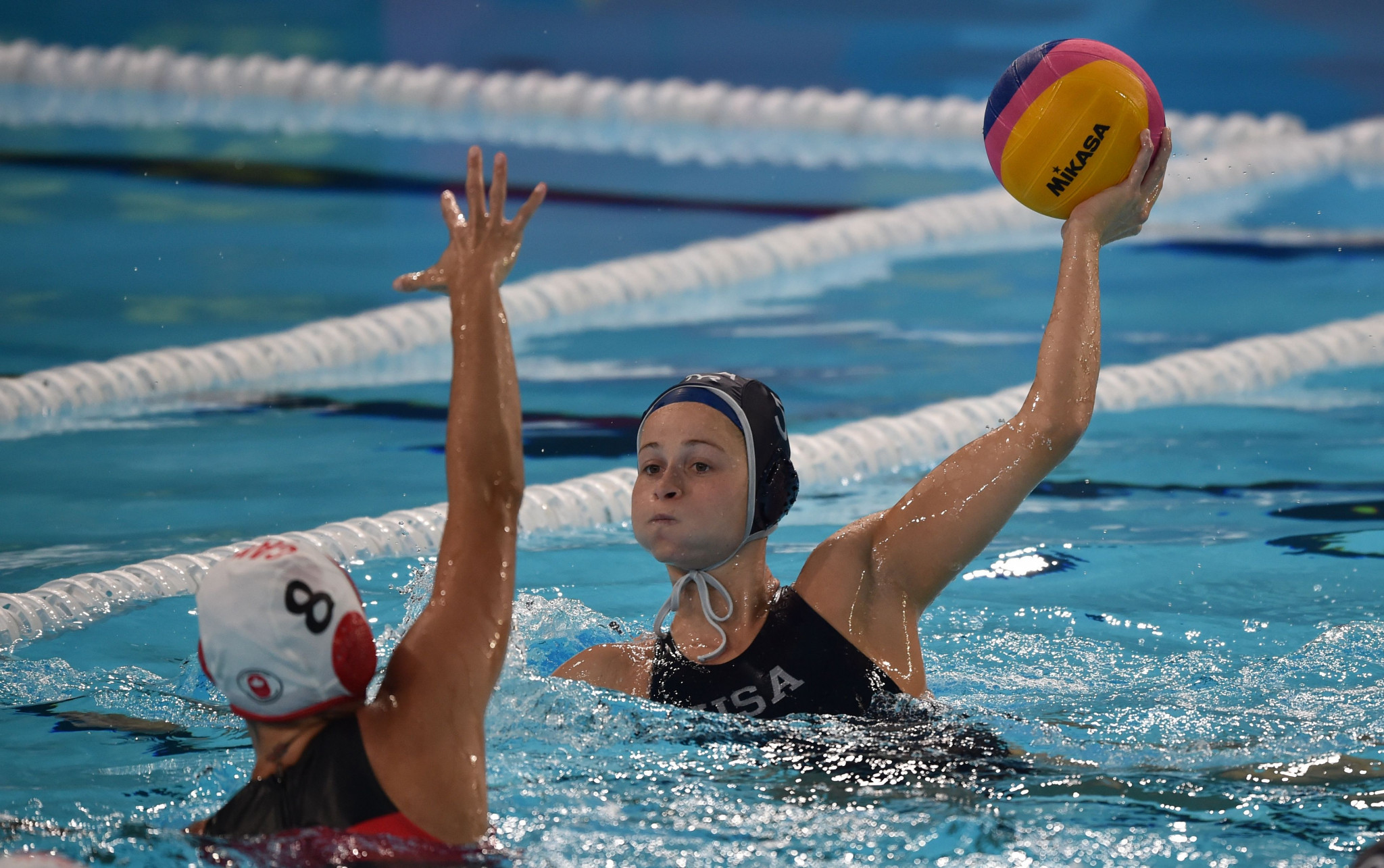 The United States defeated Canada to win gold in the women's water polo competition ©Getty Images