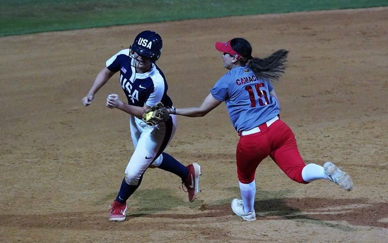 The United States cruised to a 15-0 victory against Mexico on the opening day of the WBSC Under-19 Women's Softball World Cup in Irvine ©WBSC