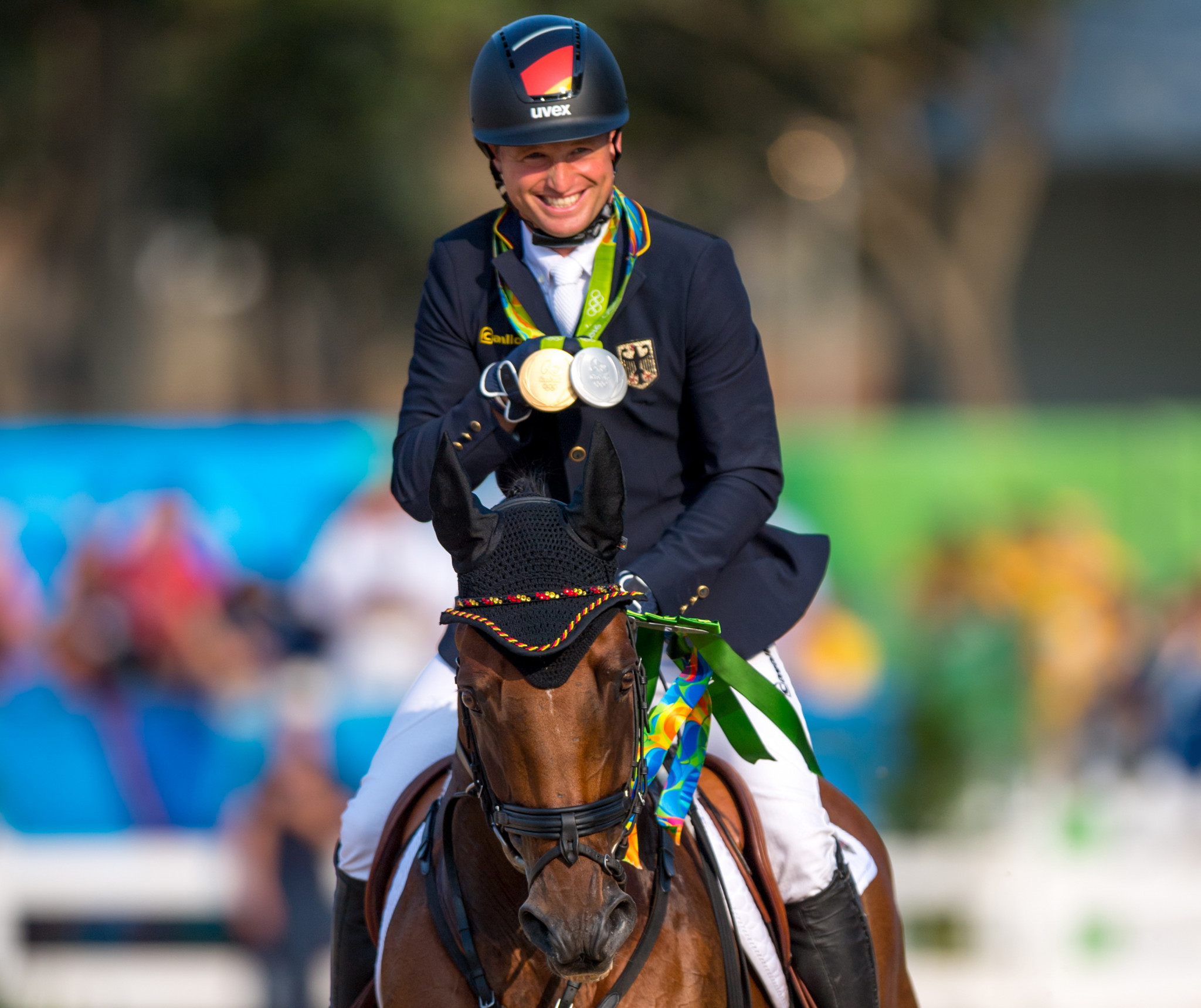 Germany's Michael Jung is one of 17 athletes competing in the Ready Steady Tokyo equestrian test event ©FEI
