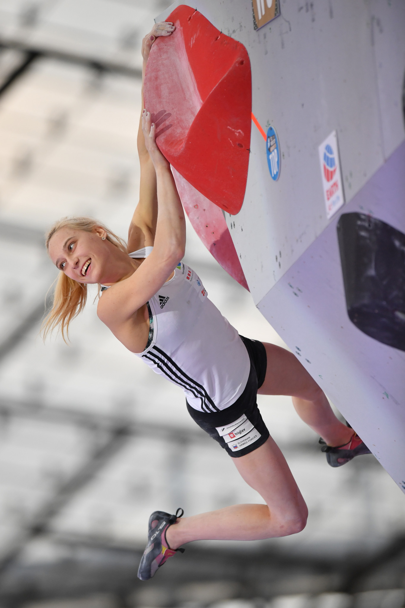 World champion Garnbret tops women's bouldering qualifying at IFSC Climbing World Championships