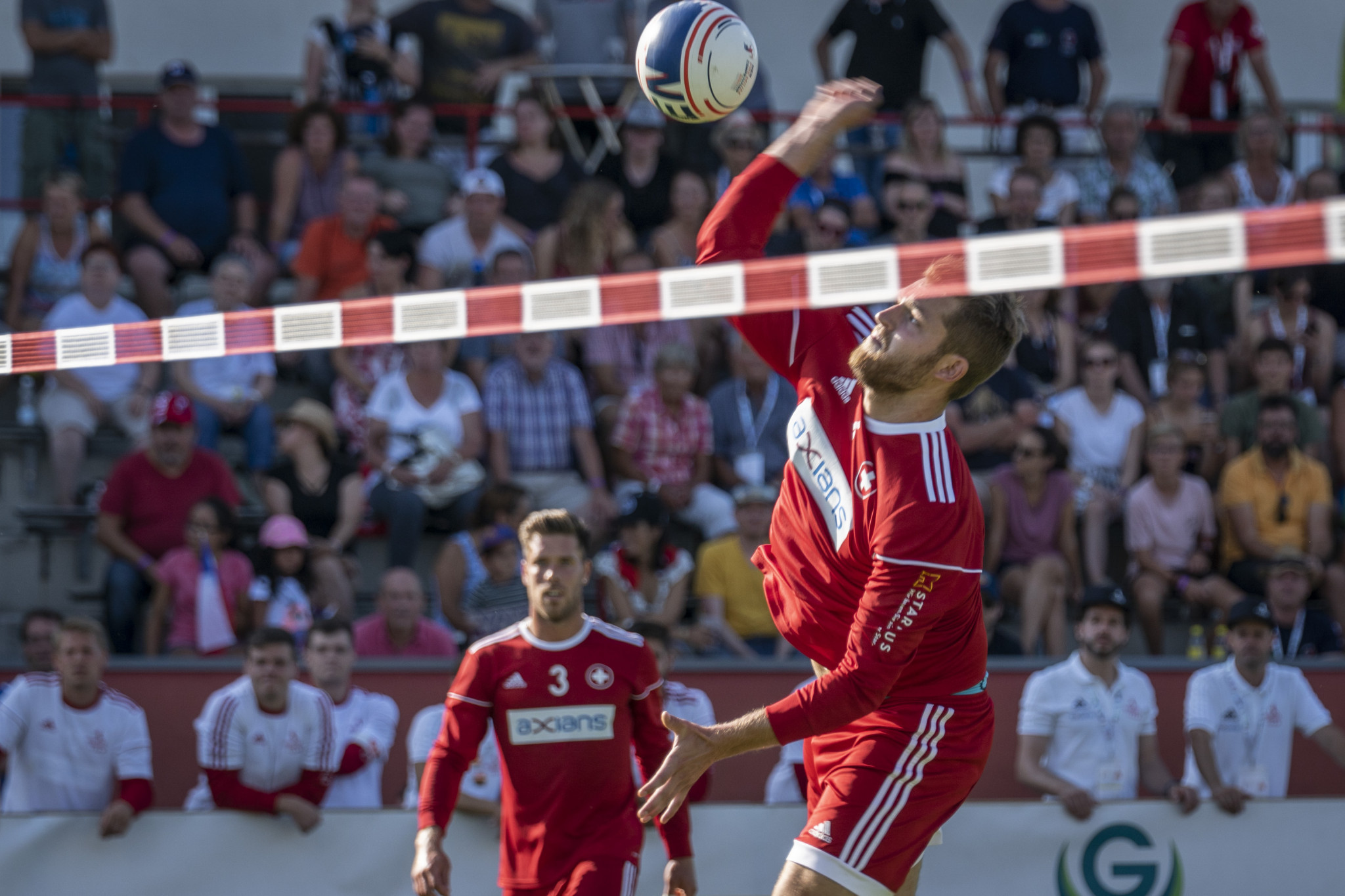 Hosts Switzerland won 3-0 against Chile as the International Fistball Association World Fistball Championships began in Winterthur ©IFA