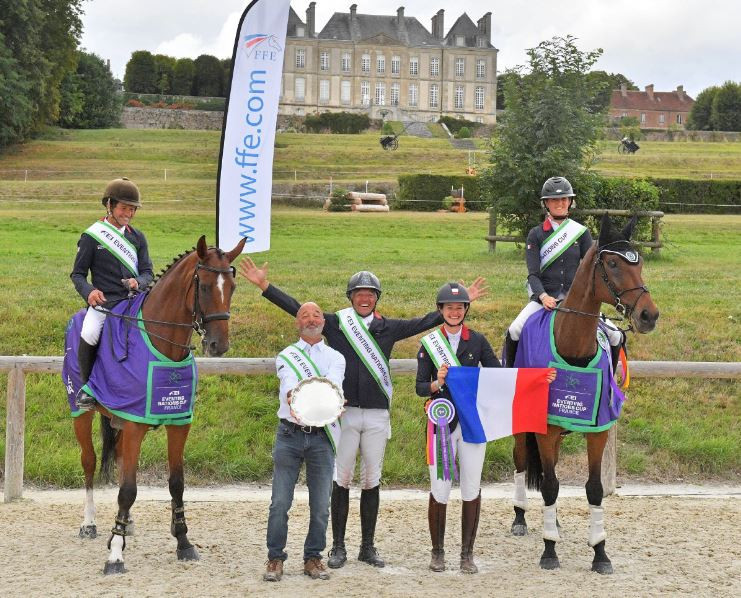 Hosts France were crowned International Equestrian Federation Eventing Nations Cup winners at Haras du Pin ©Les Garennes