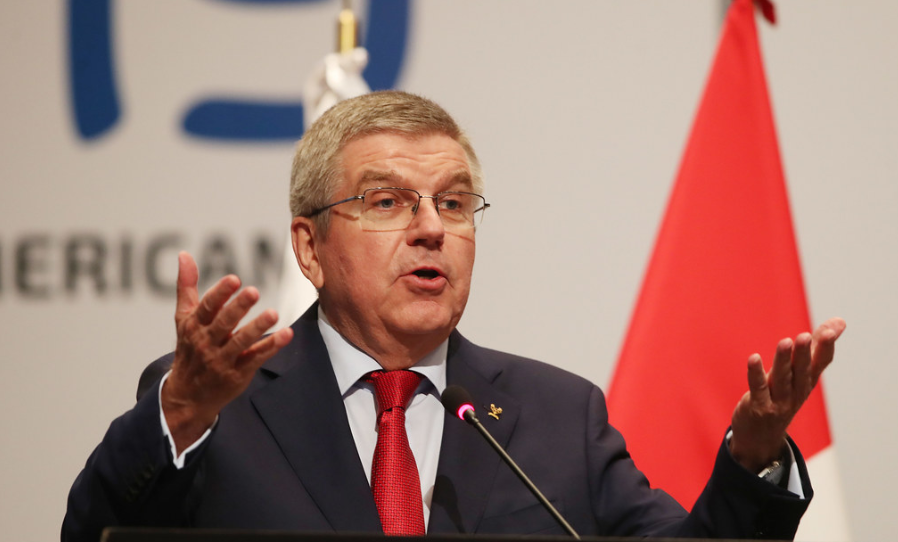 IOC President Thomas Bach said the organisation stood for peace and diversity ©Panam Sports