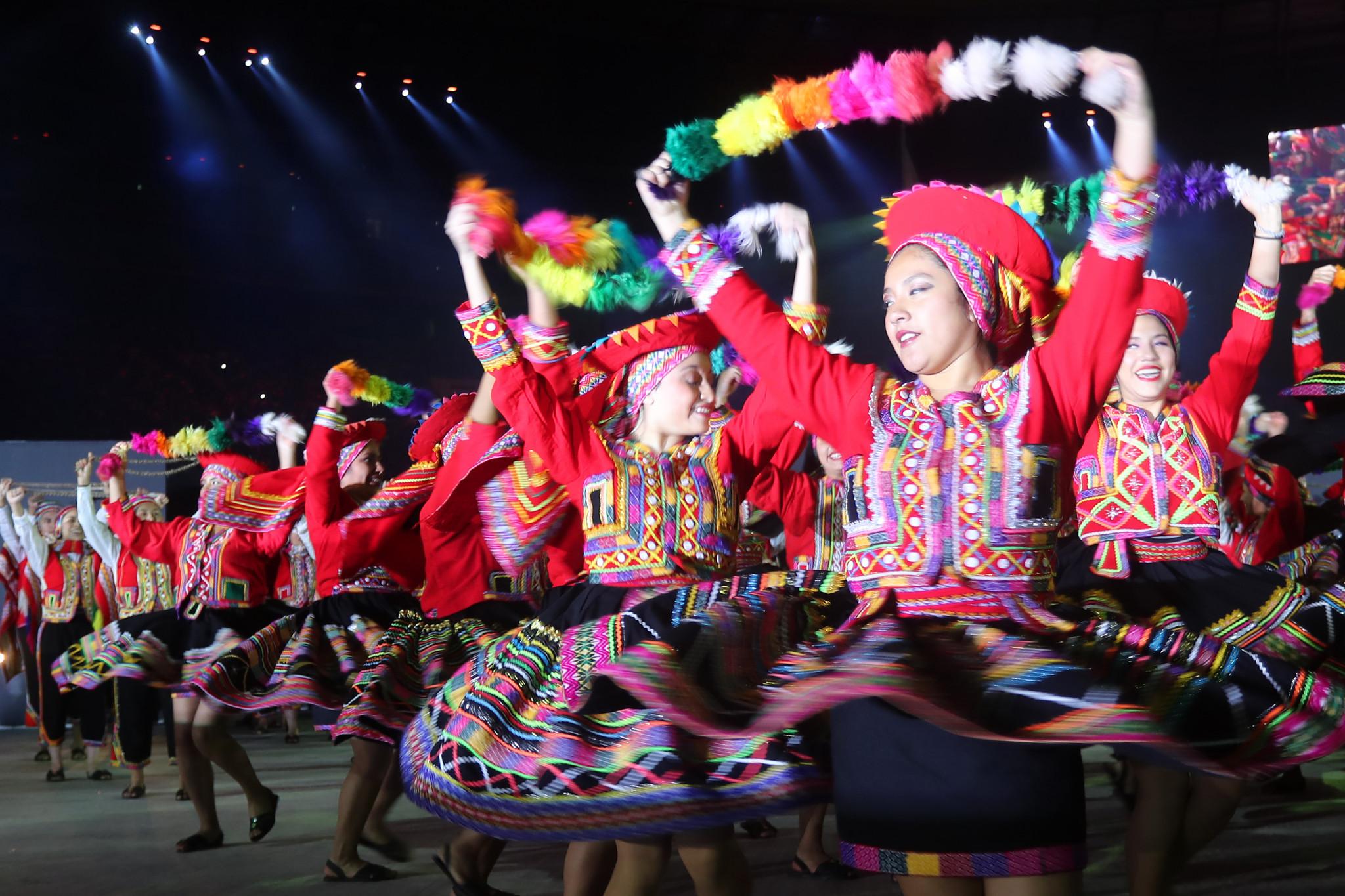 The Closing Ceremony, held at Estadio Nacional del Perú, had a heavy focus on Peruvian history culture ©Getty Images