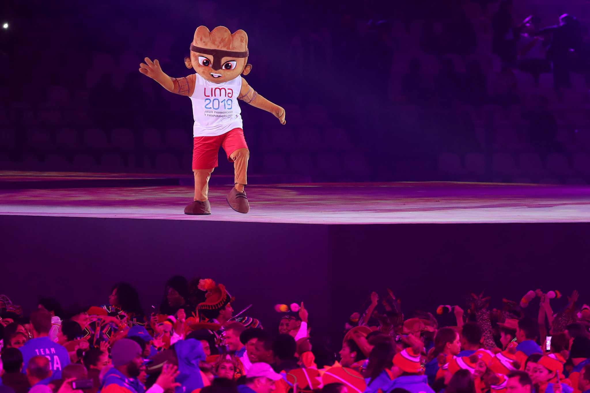 The Lima 2019 mascot, Milco, made his last appearance at the Games ©Getty Images