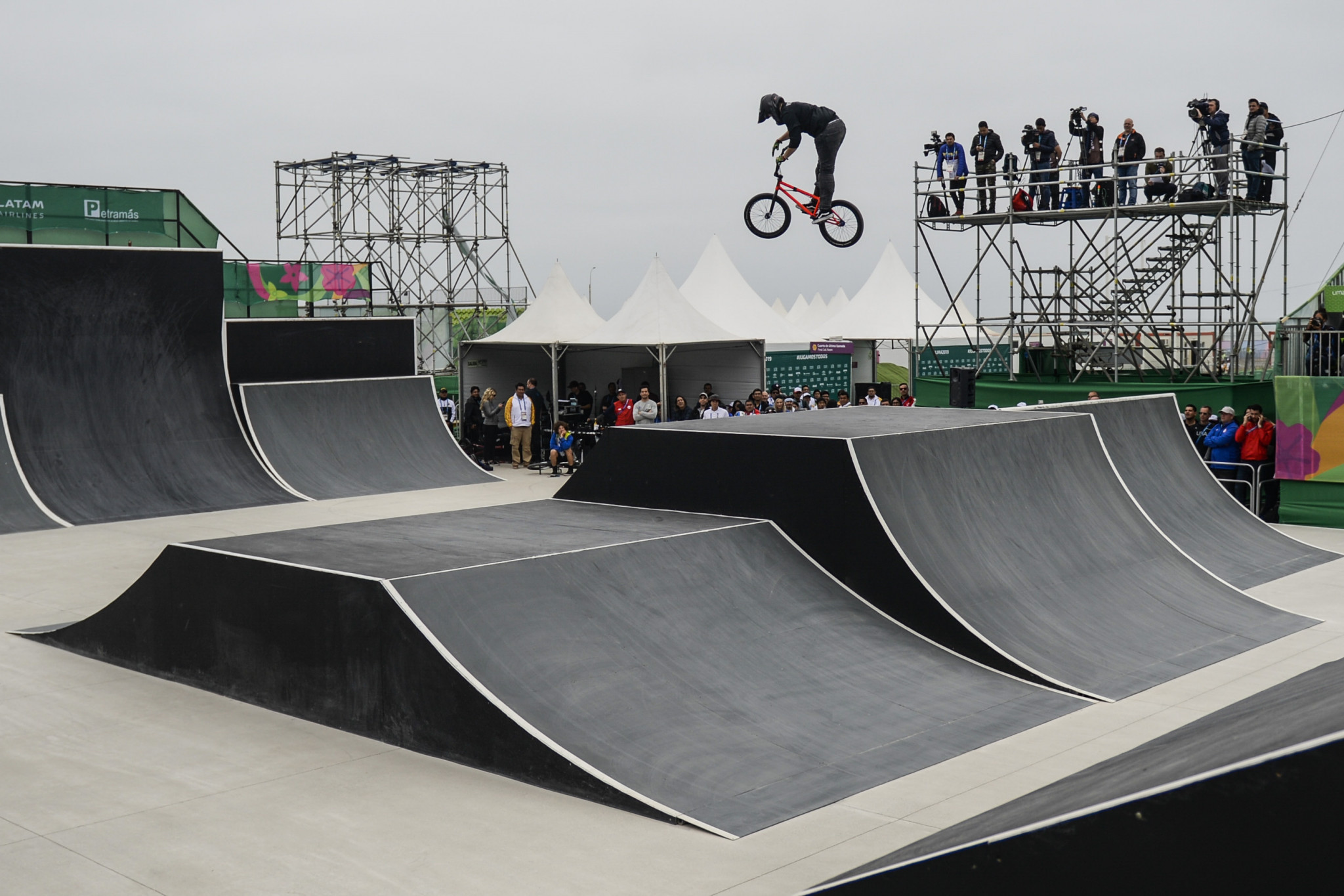 Hannah Roberts of the United States was the victor in the women's BMX freestyle ©Getty Images