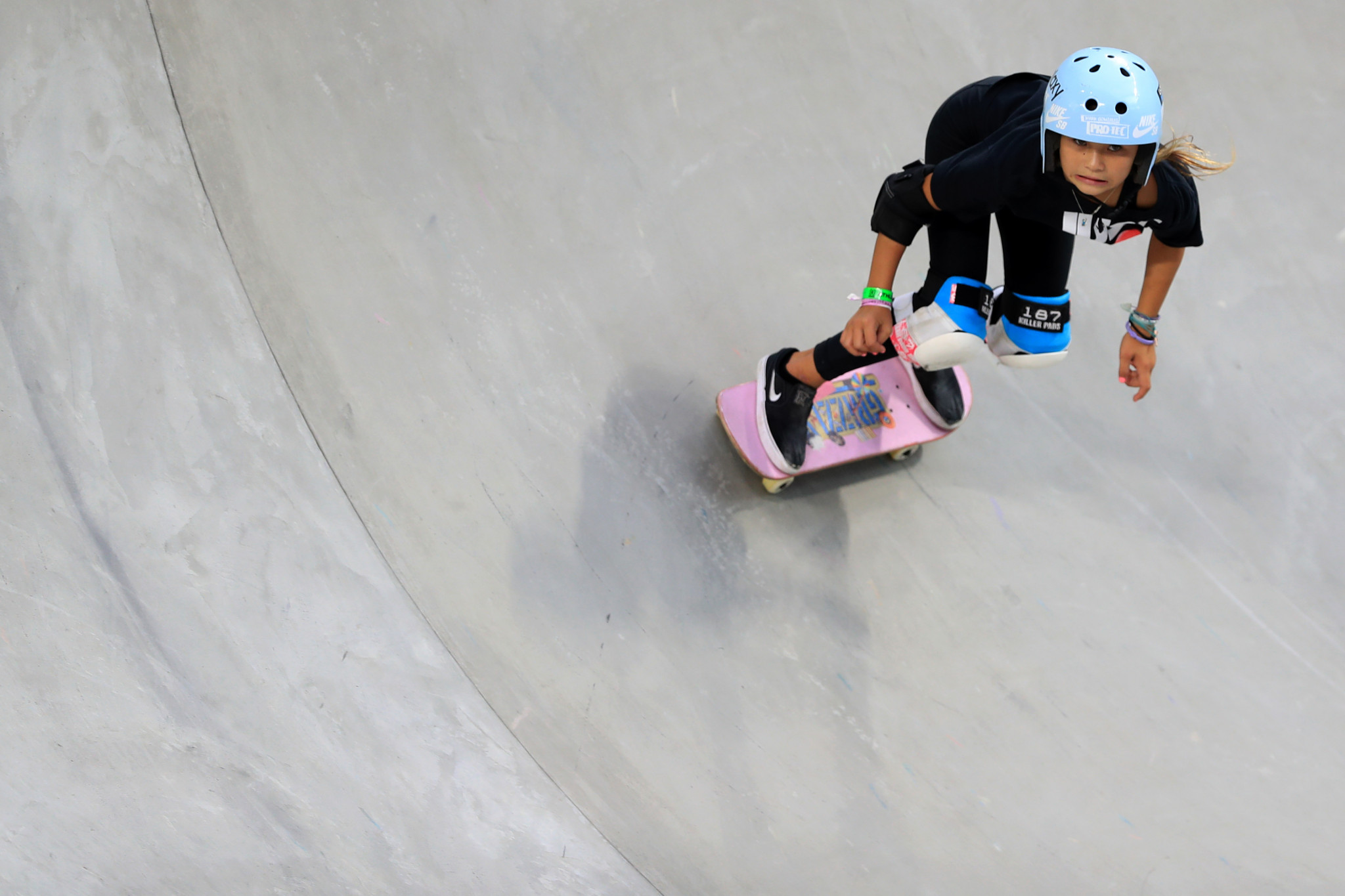 The 11-year-old has enjoyed some impressive results on the skateboarding circuit this year ©Getty Images
