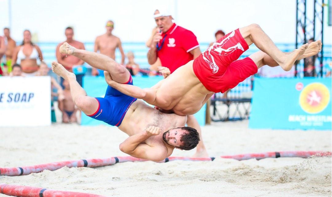 Hosts Ukraine dominate Beach Wrestling World Series event in Odessa