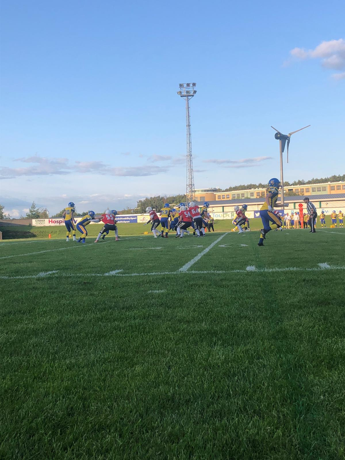 Hosts and favourites Britain have suffered a shock defeat in their opening game of the IFAF Women's European Championships against Sweden ©Twitter/IFAF