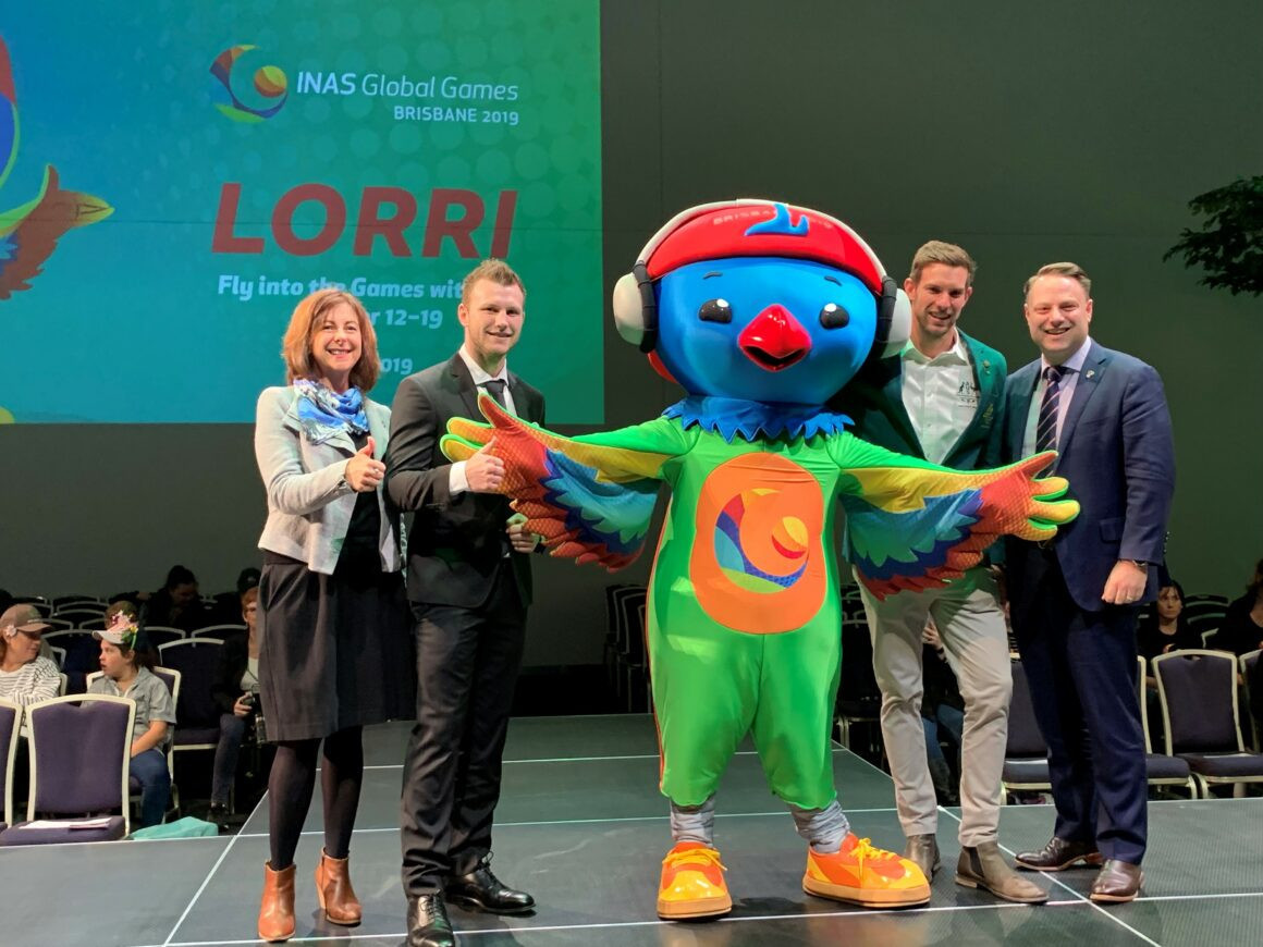 Lori the lorikeet is INAS Global Games 2019 mascot