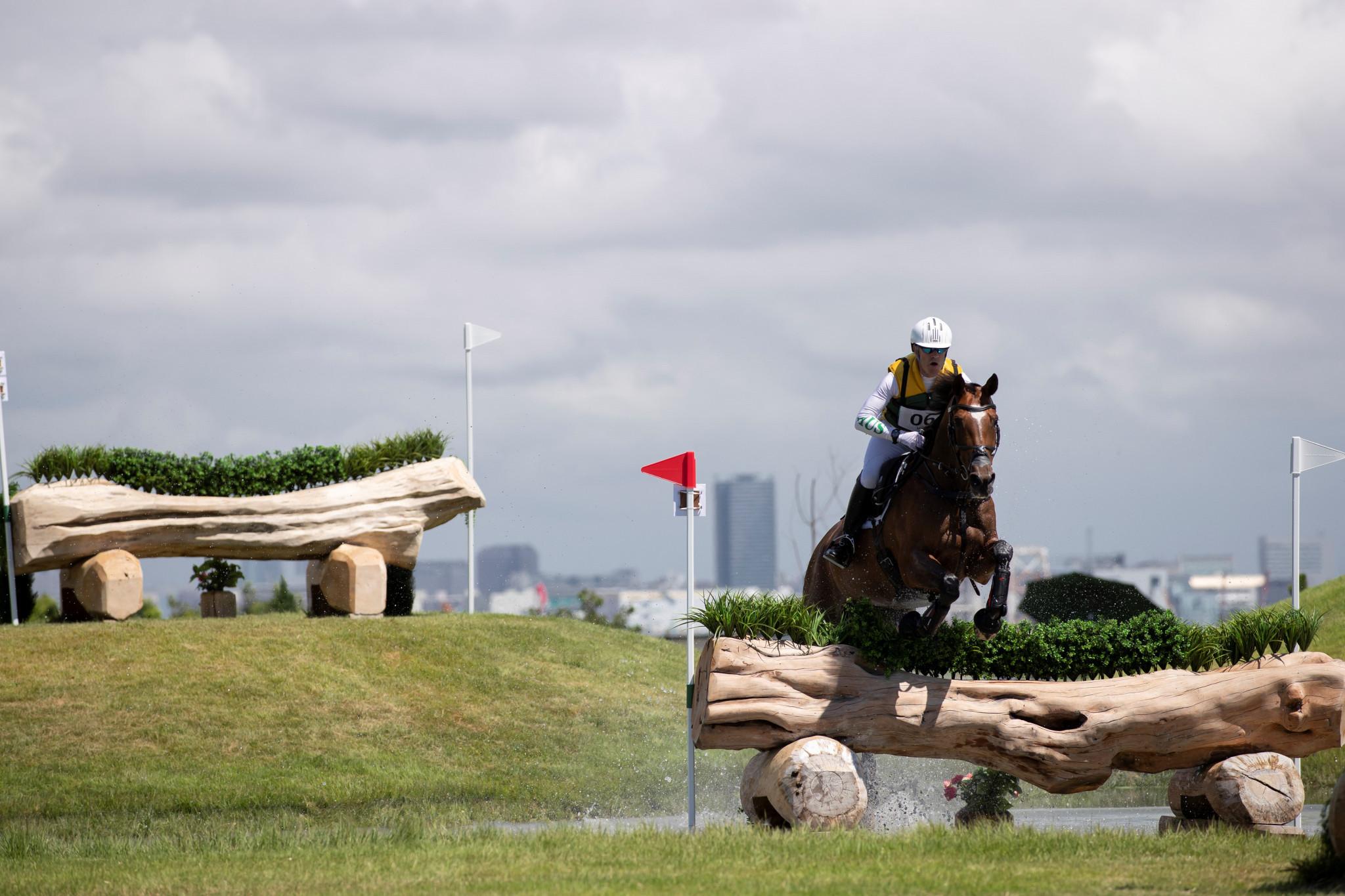 Australian Andrew Hoy has taken the lead at eventing Tokyo 2020 test event ©FEI/Yusuke Nakanishi