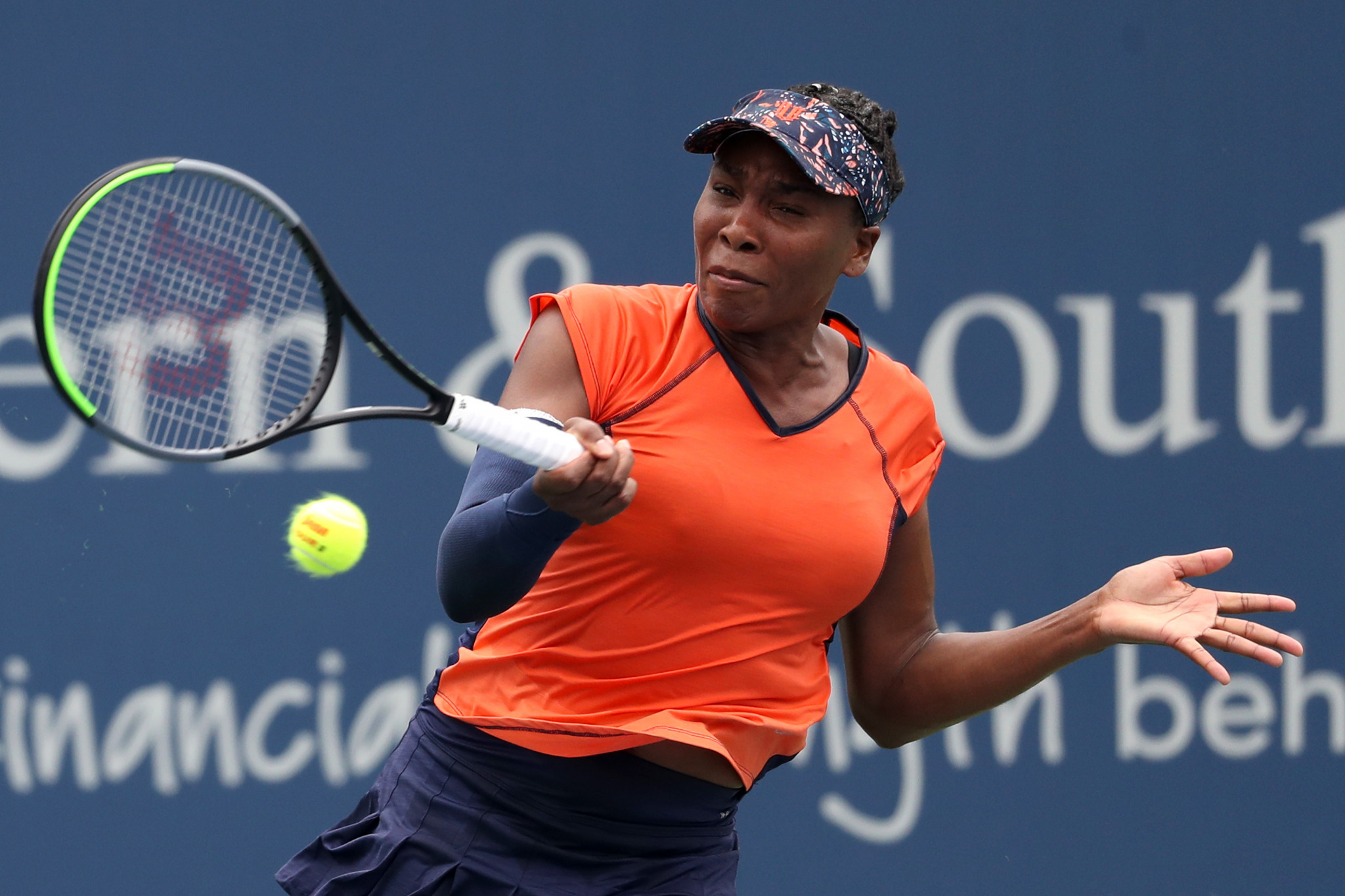 Venus Williams enjoyed a welcome victory, defeating fellow American Lauren Davis in straight sets ©Getty Images