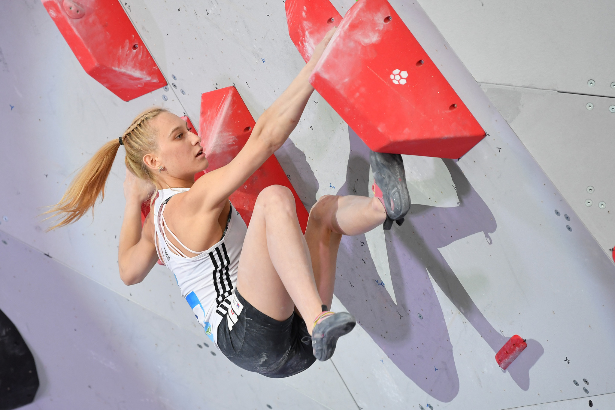 Janja Garnbret has won the IFSC women's bouldering title for the second year in succession ©Getty Images