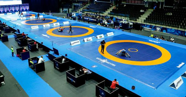 Action continued today at the UWW World Junior Championships in Tallinn ©UWW/Twitter
