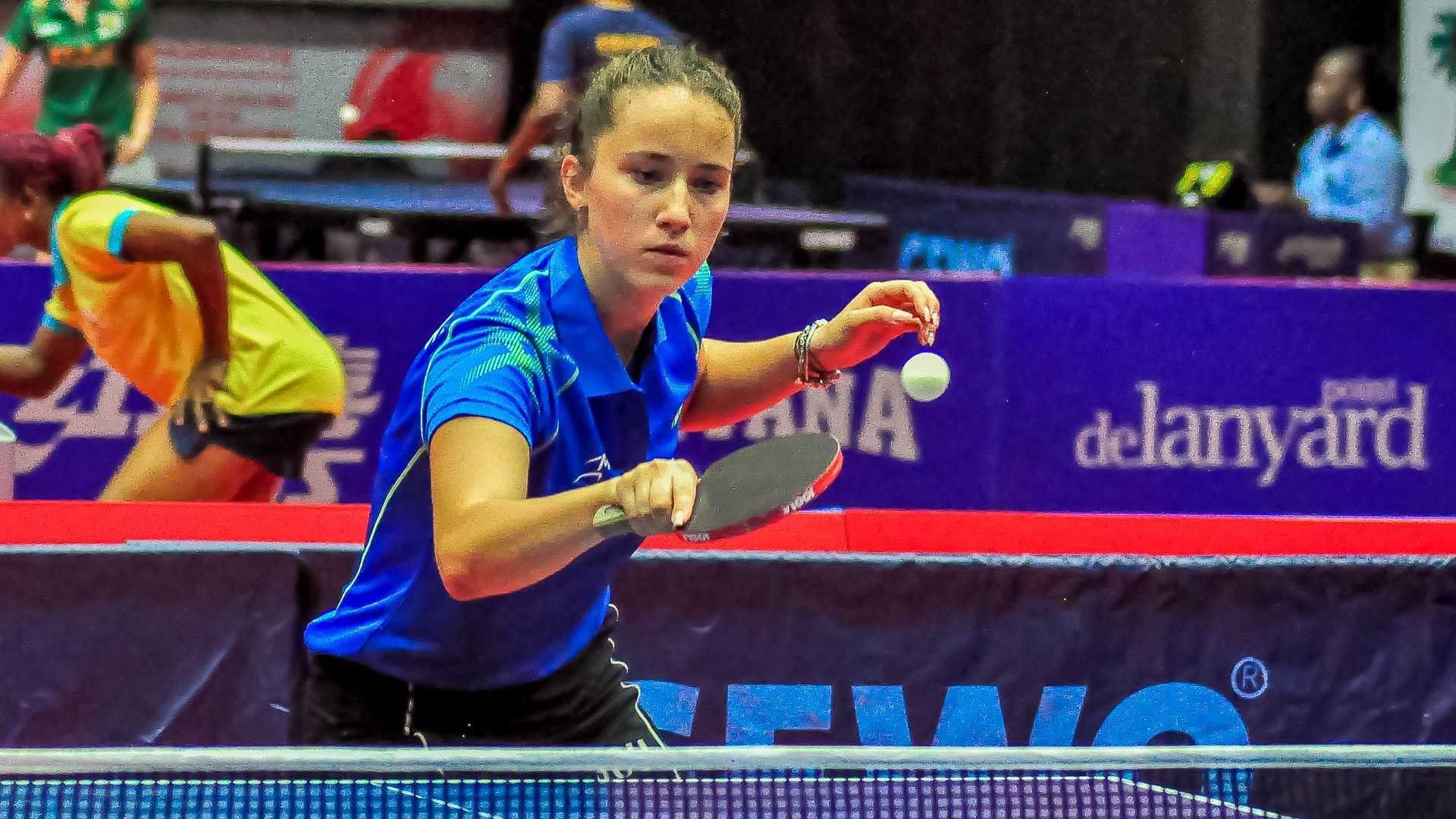 Romania's Andreea Dragoman came through a thrilling seven-game match in the first preliminary round of the women's singles event ©ITTF