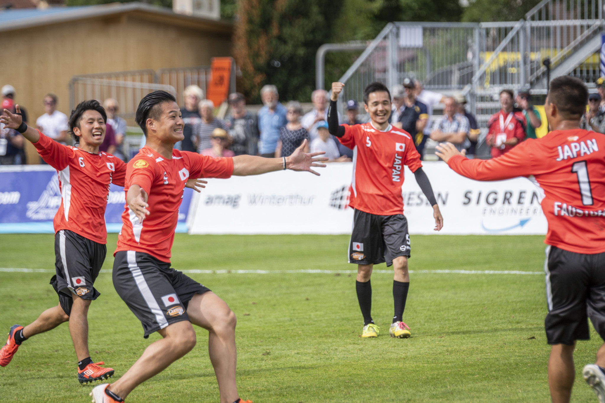 Japan claimed a memorable 3-1 win over The Netherlands in Group D ©IFA 2019 Fistball World Championship