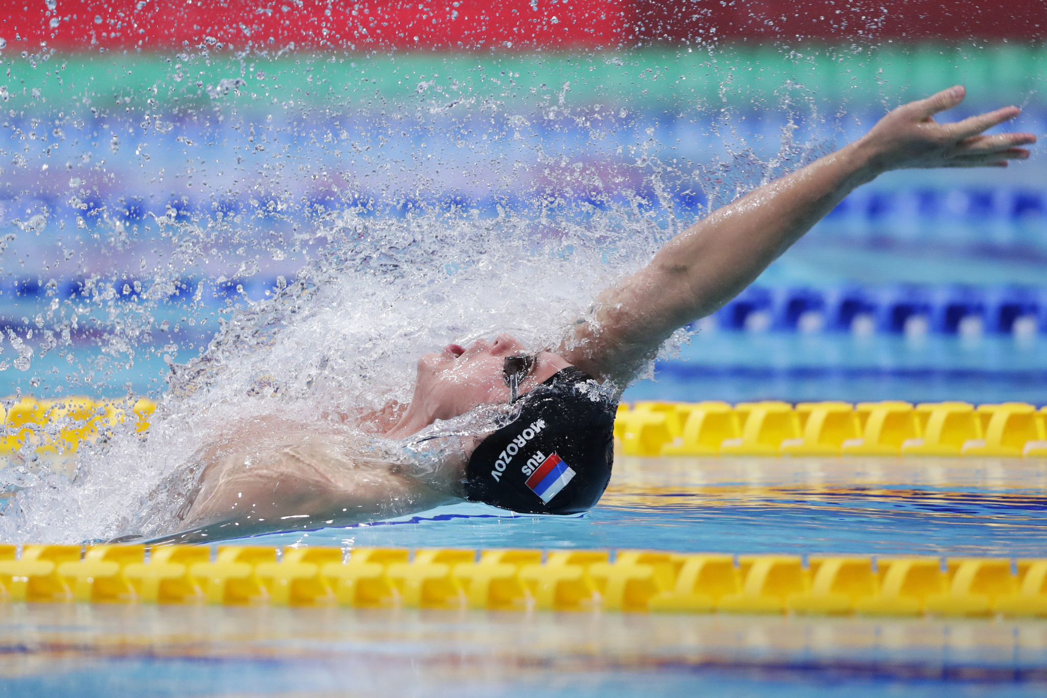 Vladimir Morozov of Russia set a World Cup record of 47.99sec in the 100m freestyle final in Jinan ©Getty Images