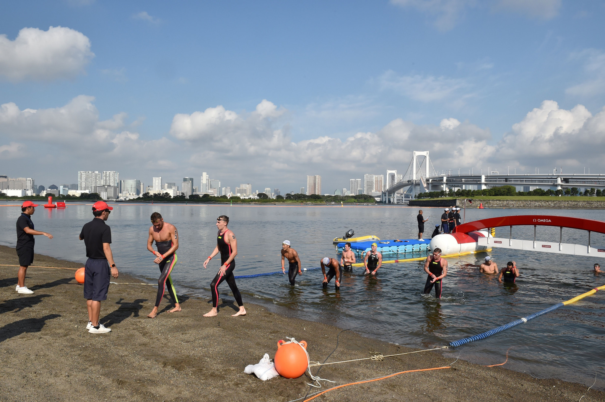 Water quality is set to be one of the main challenges for triathletes on the swimming leg of the Tokyo 2020 qualifier ©Getty Images