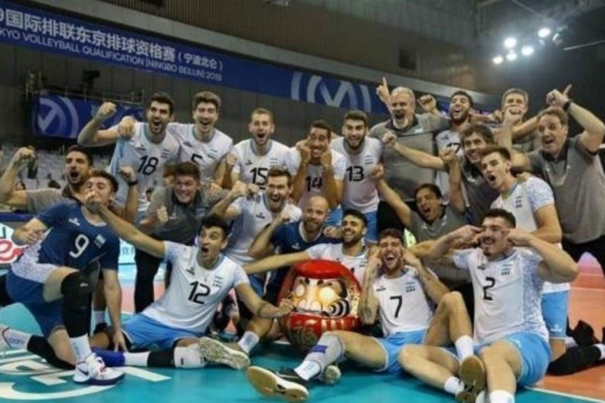 Argentina's men's team has been criticised for the slant-eyed gesture at the FIVB Men's Volleyball Intercontinental Olympic Qualification Tournament in Ningbo in China ©Instagram