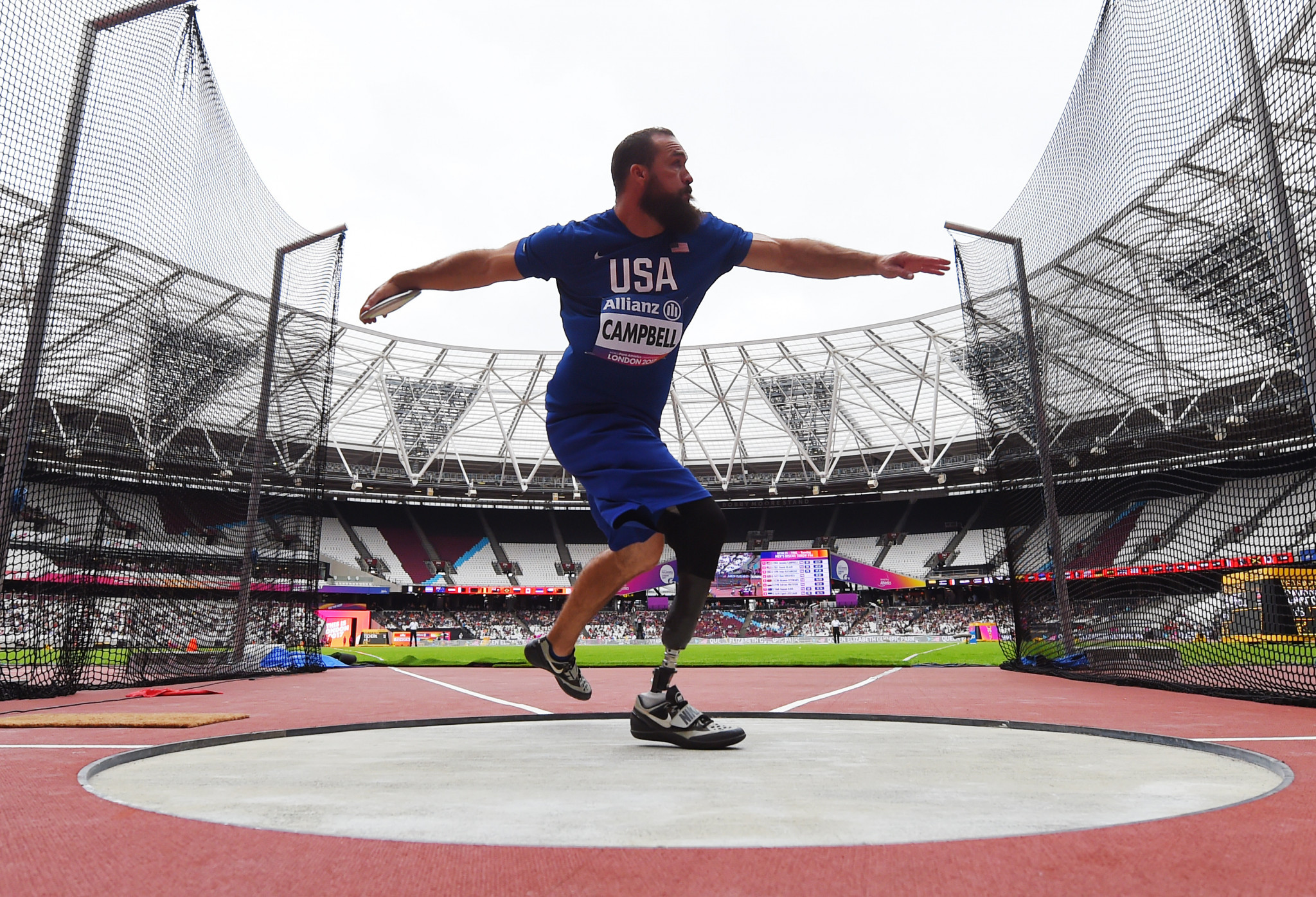 Discus thrower Jeremy Campbell is one of 36 Paralympic champions selected for the US team to compete at the Parapan American Games in Lima ©Getty Images