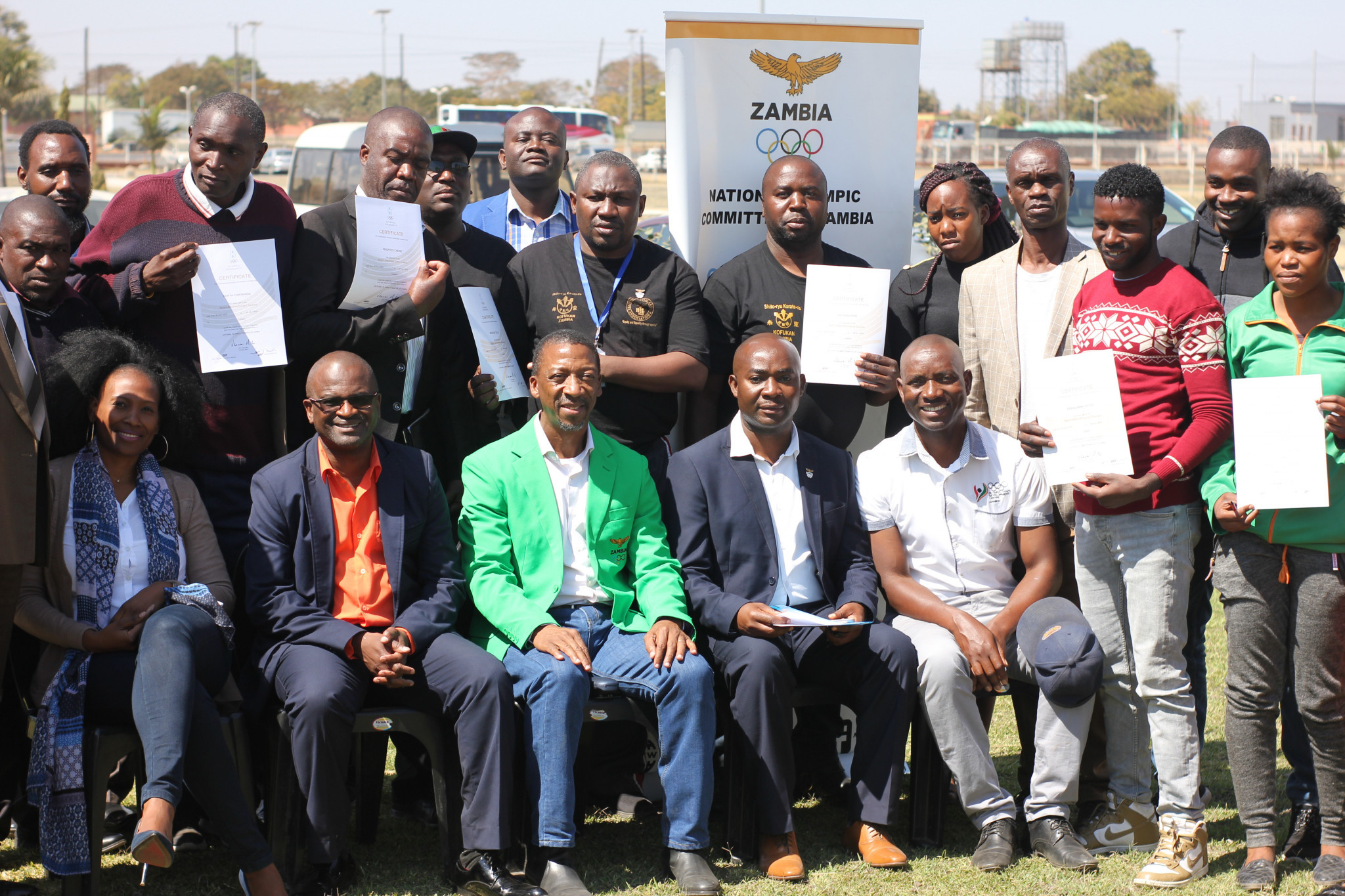 The event in Lusaka was attended by 24 participants, including athletes ©NOCZ