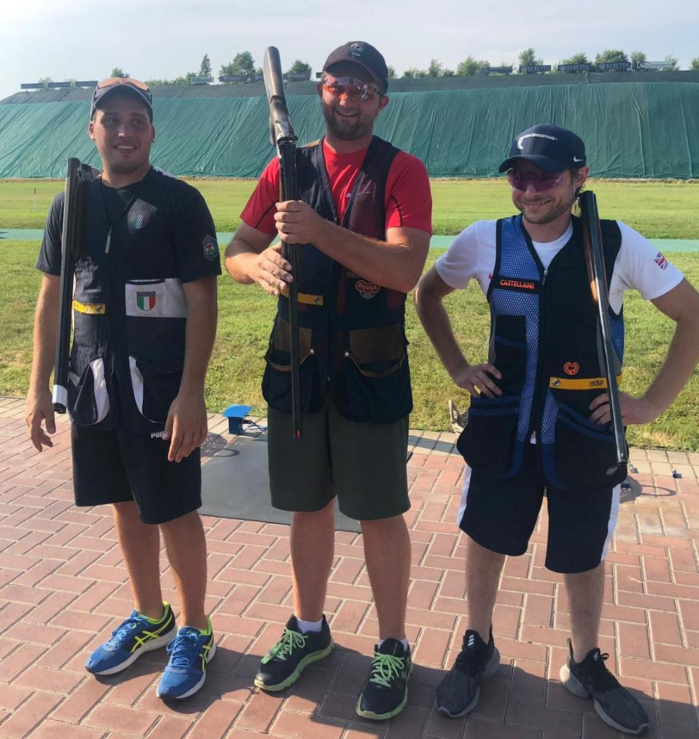 Tomáš Nýdrle of the Czech Republic won the men's skeet title at the International Shooting Sport Federation World Championship in Italy ©British Shooting