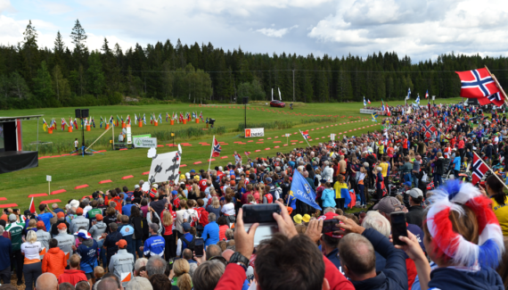 Olav Lundanes of Norway triumphed in the men's long distance event ©IOF