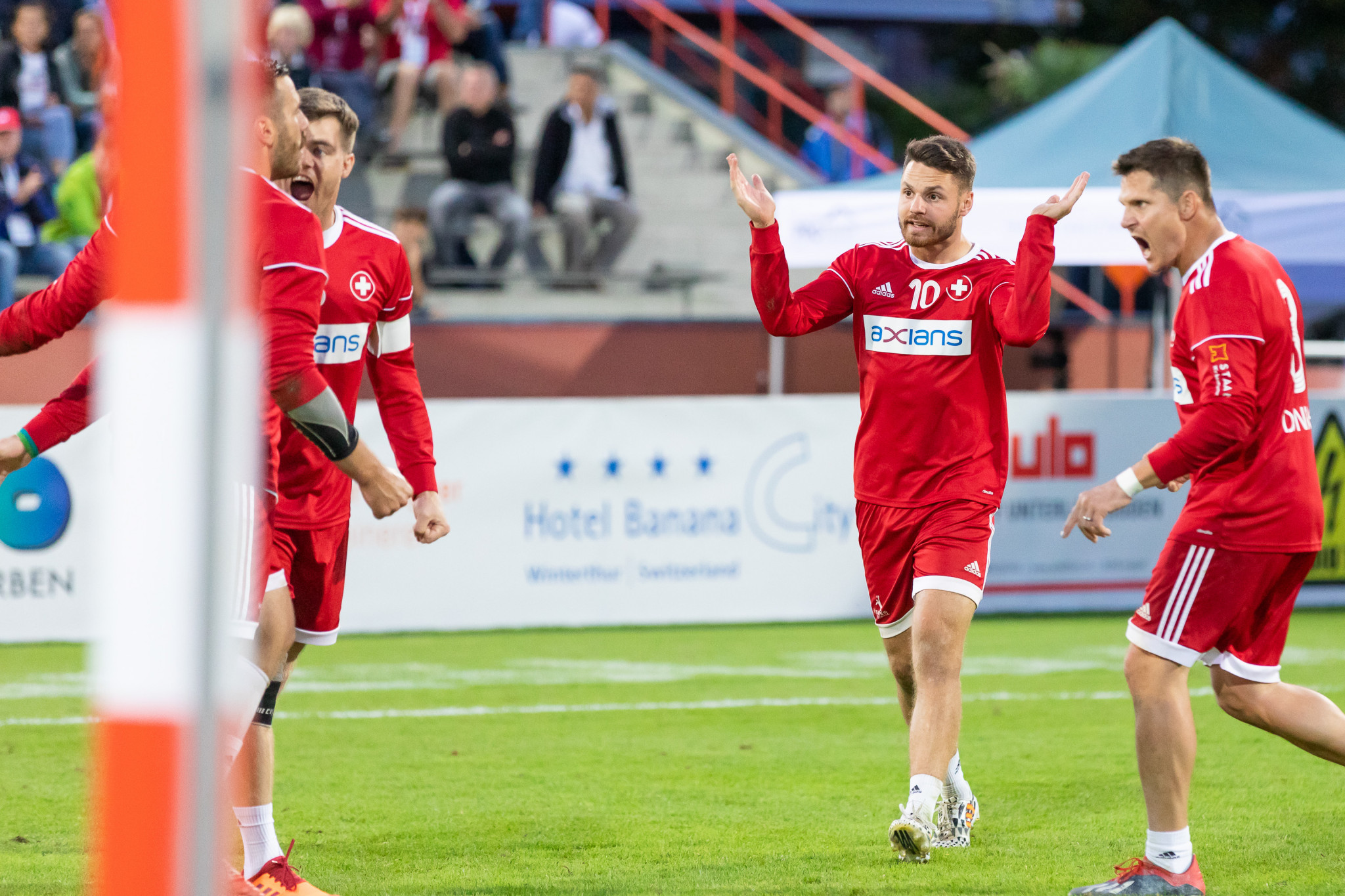 Hosts Switzerland were among the four teams that booked their place in the quarter-finals as action continued today at the International Fistball Association World Championship in Winterthur ©IFA 2019 Fistball World Championship