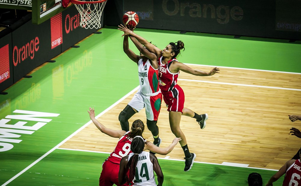 Ivory Coast cruised through to the last eight of the Women's AfroBasket with a 74-50 victory against Tunisia ©FIBA
