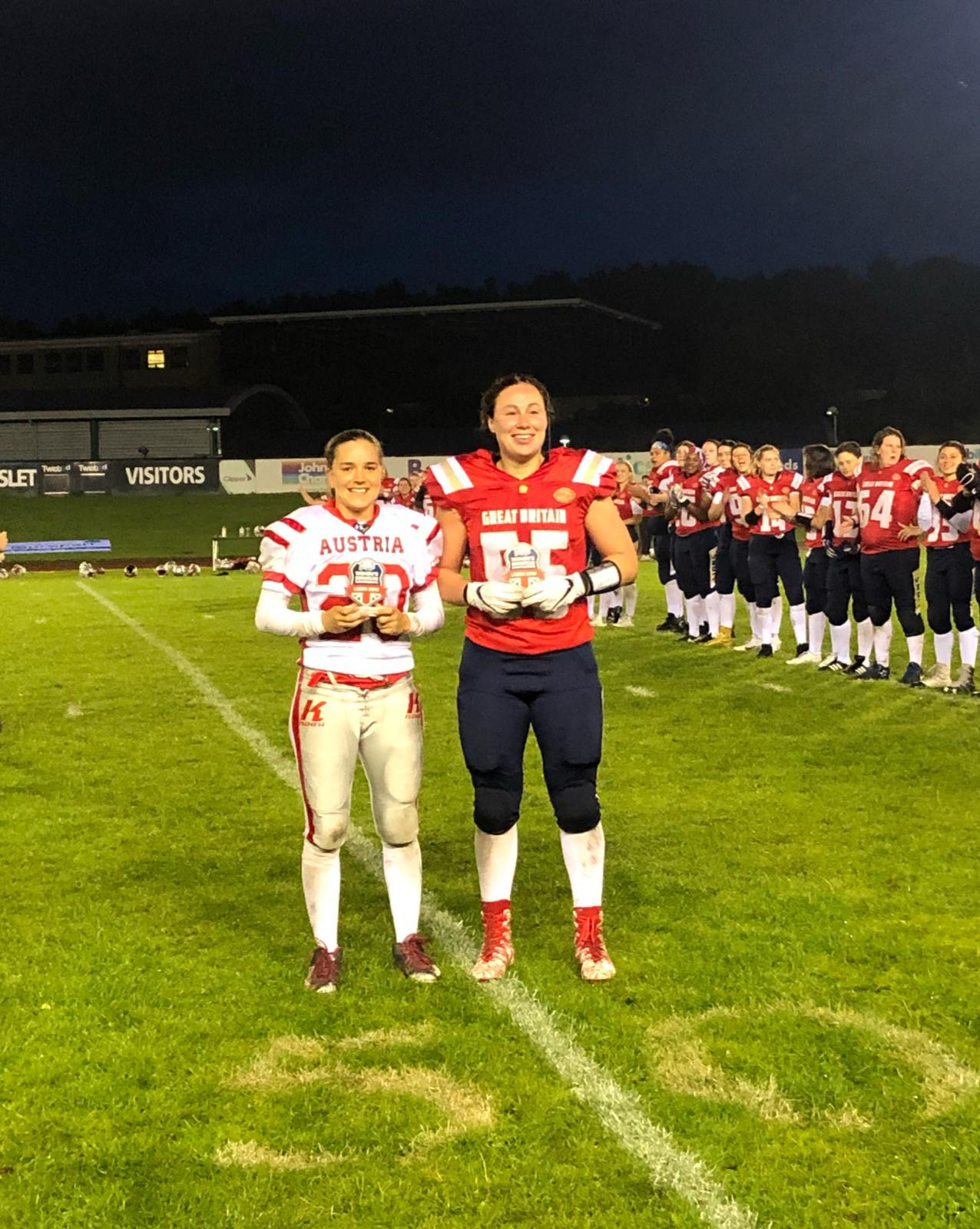 Britain defeat Austria to keep title hopes alive at IFAF Women's European Championships