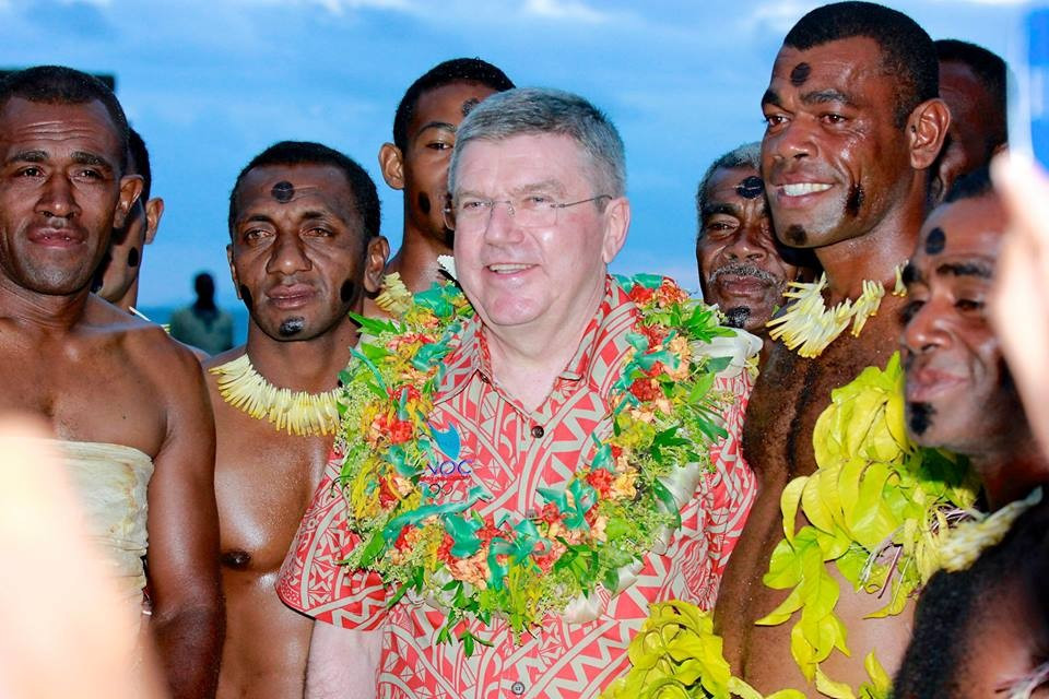 "Thomas Bach praised the ""great efforts"" made to promote sport in the region"