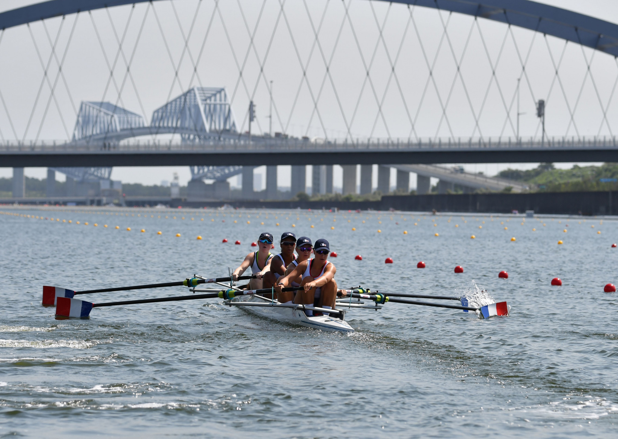 Several rowers were treated for heatstroke at the 2019 World Rowing Junior Championships in Tokyo ©Getty Images
