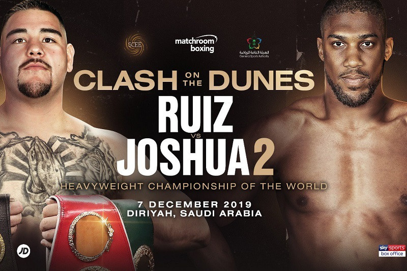 The rematch between Britain's former world champion Anthony Joshua and the man who beat him, Mexico's Andy Ruiz Jnr, has been controversially scheduled to take place in Saudi Arabia ©Matchroom Boxing