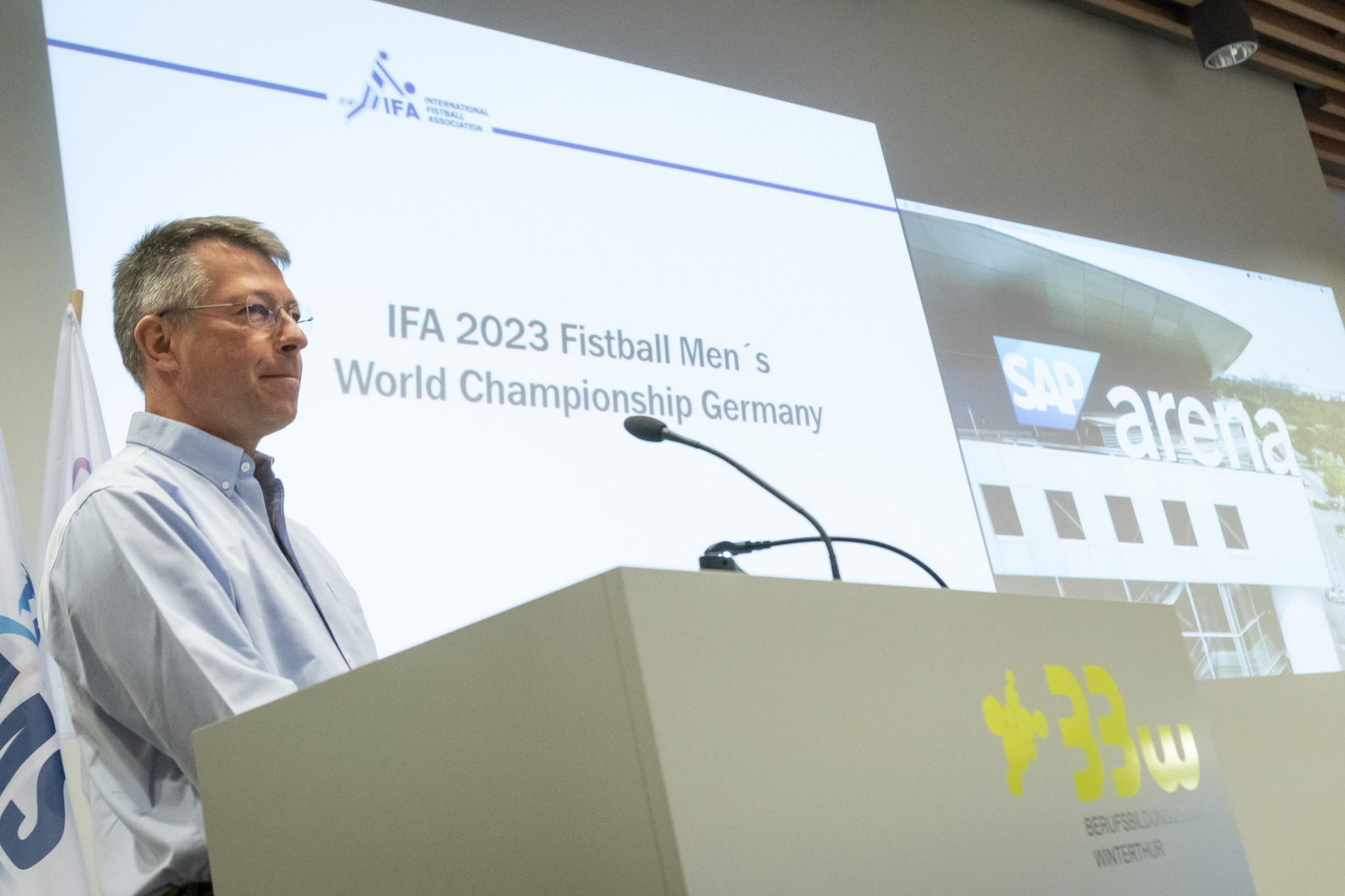 Mannheim was announced as the host city for the 2023 International Fistball Association Men's World Fistball Championship at the IFA Congress in Winterthur in Switzerland ©IFA