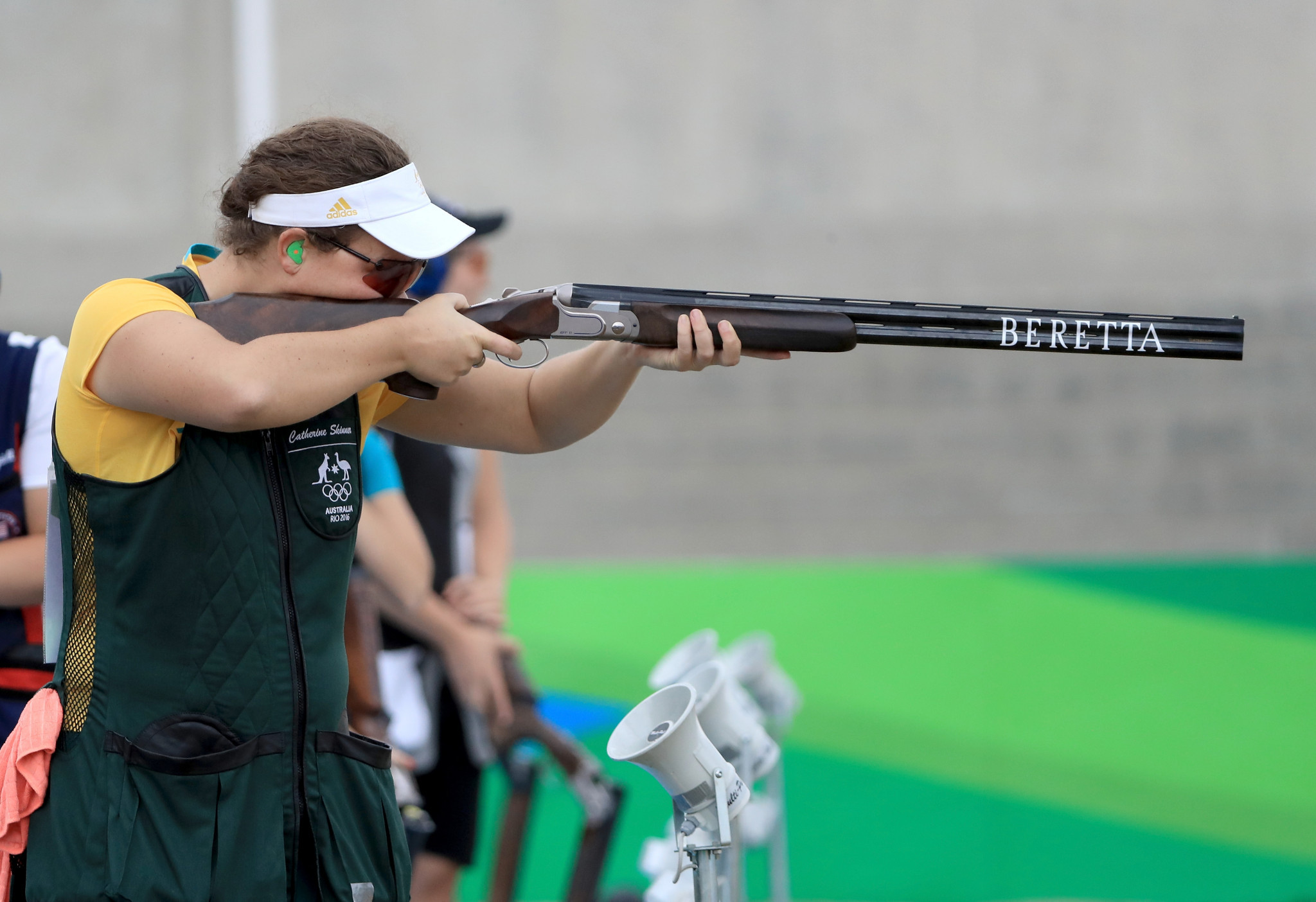 Australia's Catherine Skinner finished second on the first day of women's trap qualification ©Getty Images